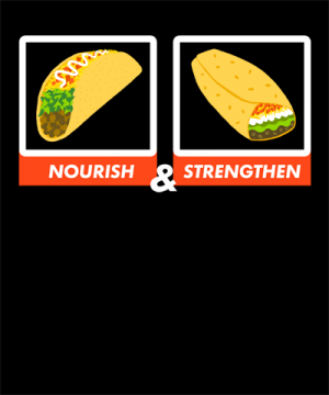 nourish strengthen funny lds shirt