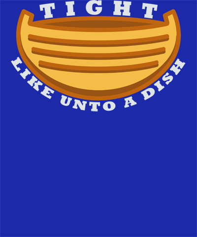 Tight Like Unto a Dish Funny Book of Mormon LDS Shirt