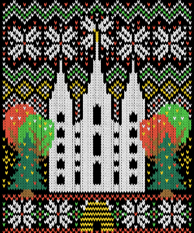 LDS Ugly Sweater Temple Square Christmas