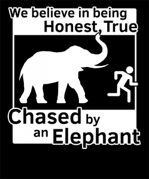 Chased by an Elephant LDS Tshirt
