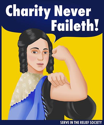 Emma Smith Charity Never Faileth Rosie the Riveter Shirt